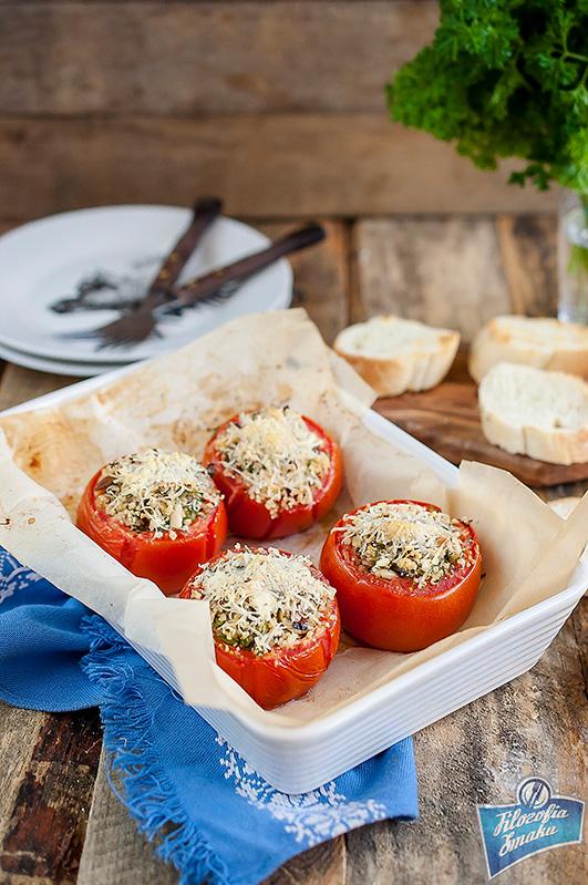zapiekane faszerowane pomidory