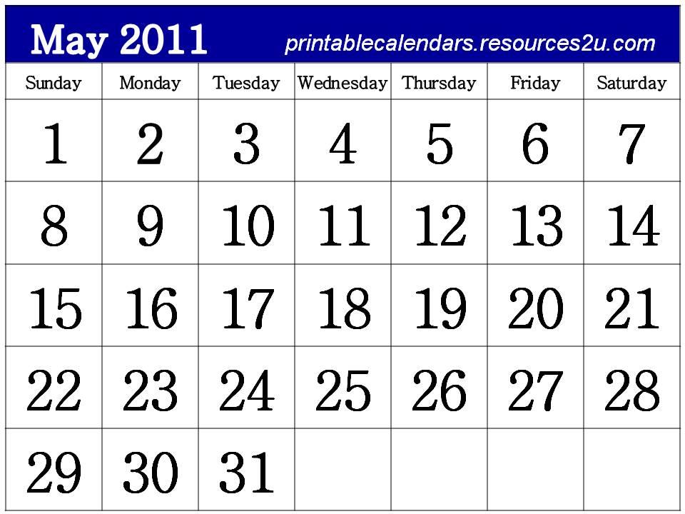 For more Free Homemade Calendars 2011, visit http://printablecalendars ...