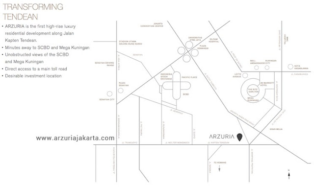 Arzuria Jakarta Apartment Map Location
