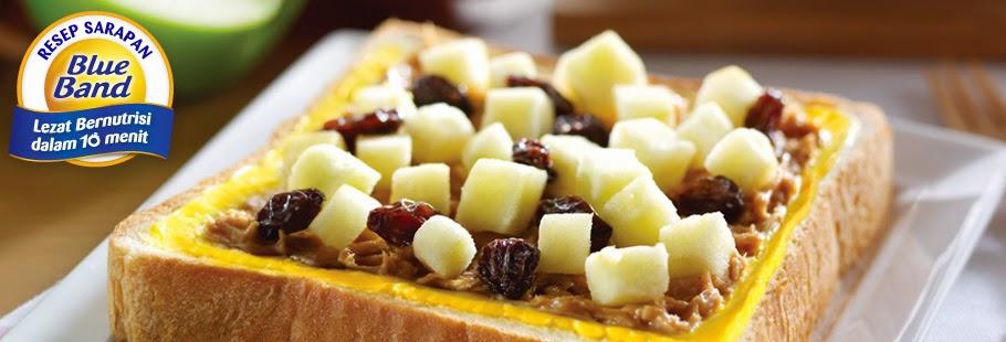 Resep dan Cara Membuat Roti Selai Kacang Tabur Apel Kismis