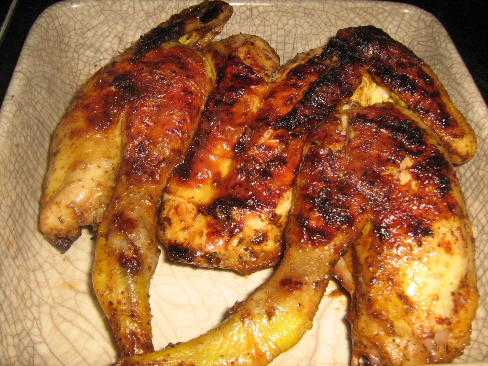 Lam bassa 39 a poulet grille aux vin rose grilled chicken parfumed with rose wine - Poulet grille au barbecue ...