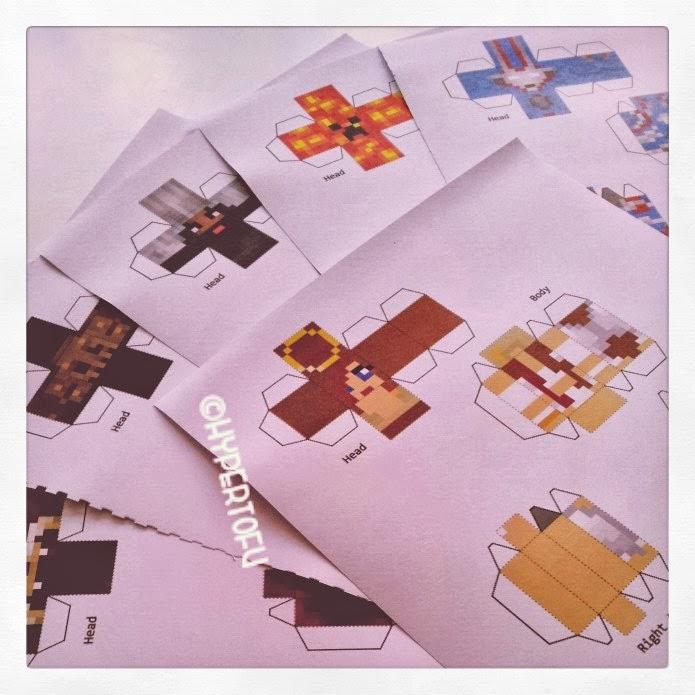 Hypertofu Pixel Papercraft Minecraft