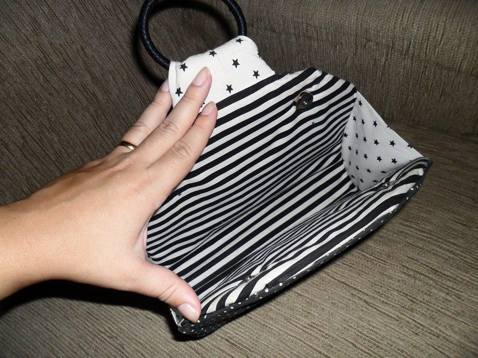 Bolsa De Tecido Forrada : Personalizados da taty bolsa de m?o forrada em tecido