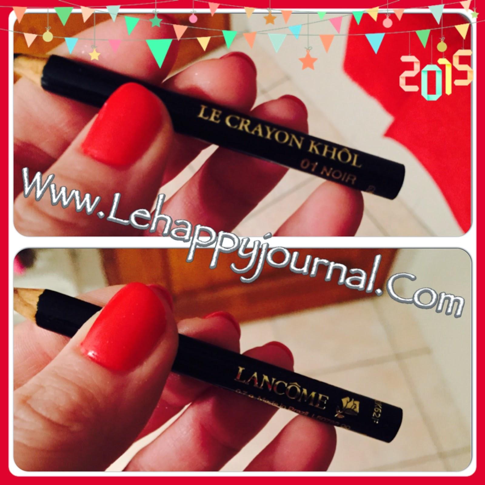 rotation, beauté, produits, semaine 1, revue, blogueuse beauté, opinion, avis, test, happy journal, lancome, lancôme, crayon noir, crayon khol, khôl