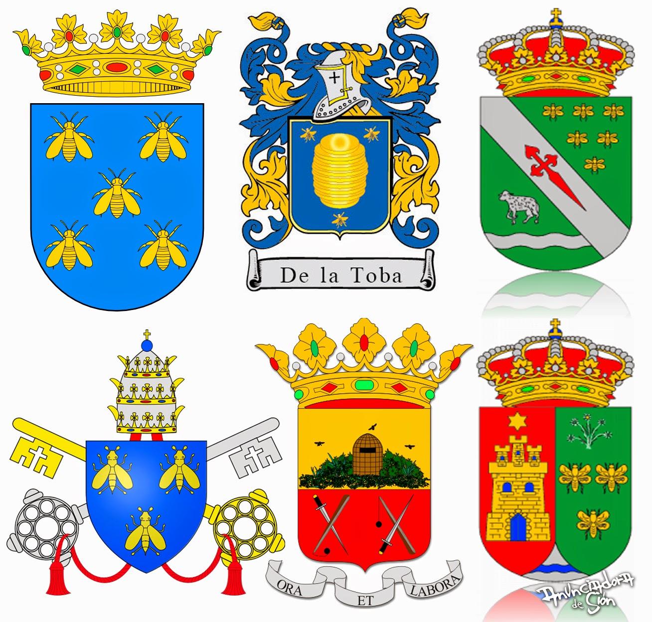 LAS ABEJAS Y EL PANAL Escudos+Abejas+Merovingias