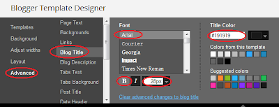Modify Blogger title in template