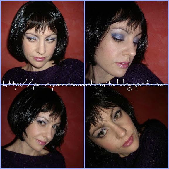 Maquillaje azules y morados