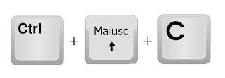 CTRL+MAISUC+C