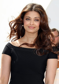 Aishwarya Rai Bachchan in Black Top and Black Mini Skirt at 63rd Annual Cannes Film Festival