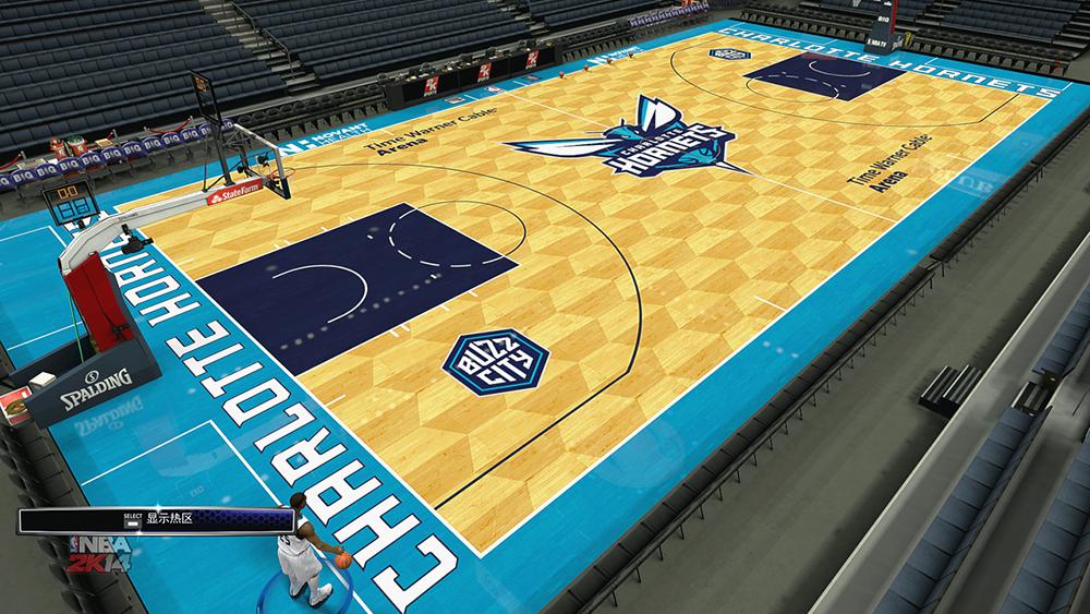 NBA 2K14 Charlotte Hornets 2014-15 Court Mod