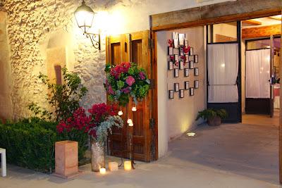 Boda Valencia decoracion entrada noche