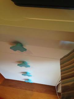 Details @ Blue and beige stripes boy's bedroom