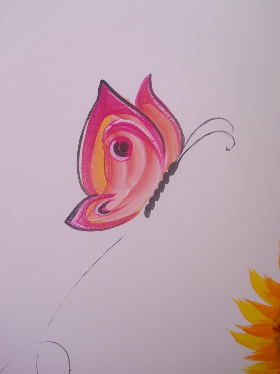 Decorazione muro cameretta for Farfalle decorative per muri