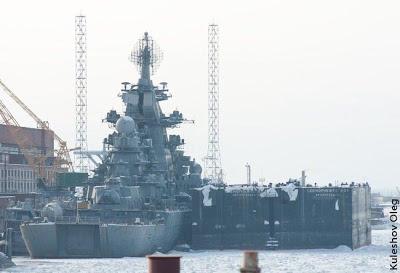 """Крейсер """"Адмирал Нахимов"""" в Северодвинске"""