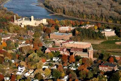 Benedictine College overlooks the Missouri River on the highlands of Atchison, Kansas, one of the most haunted towns in the mid-western United States.