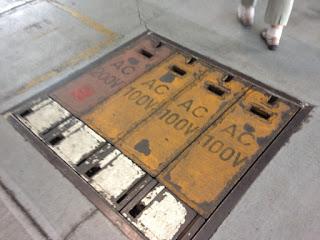 ANA格納庫見学バスツアー 電源の取り口