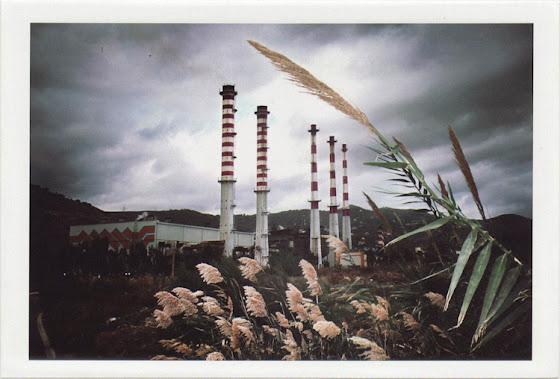 dirty photos - time - cretan landscape photo of linoperamata electricity factory