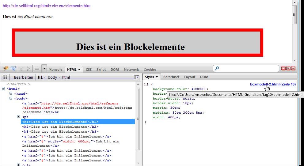 Mitschriften-Blog - ComcaveCollege: Kurs Tag 10 - HTML & CSS - Box ...