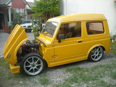 Modifikasi Mobil Katana Ceper