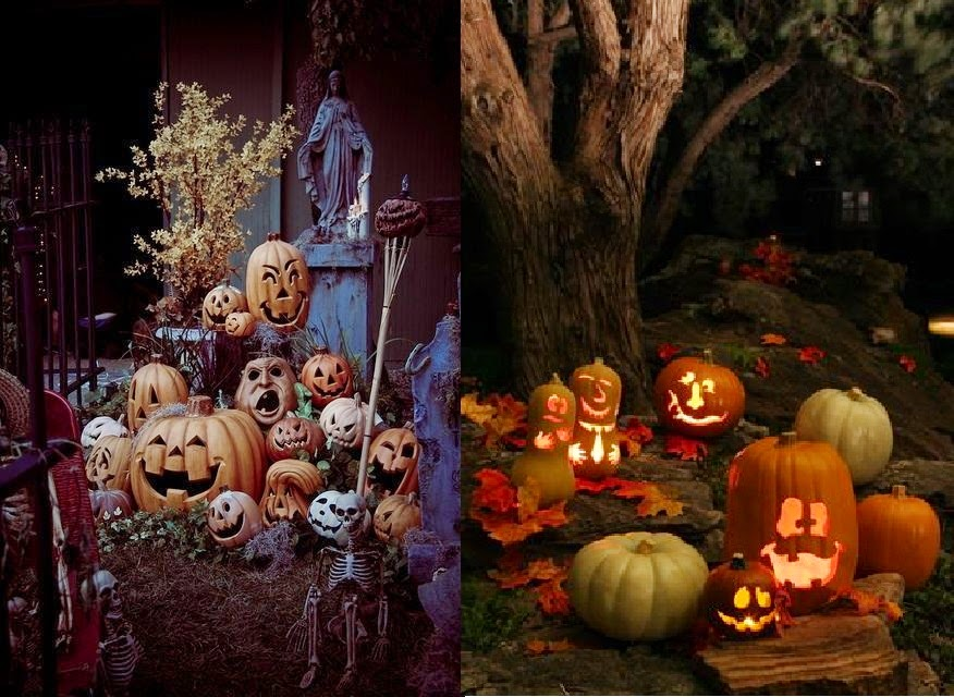Decoraci n de halloween para exteriores casas ideas for Articulos decoracion halloween