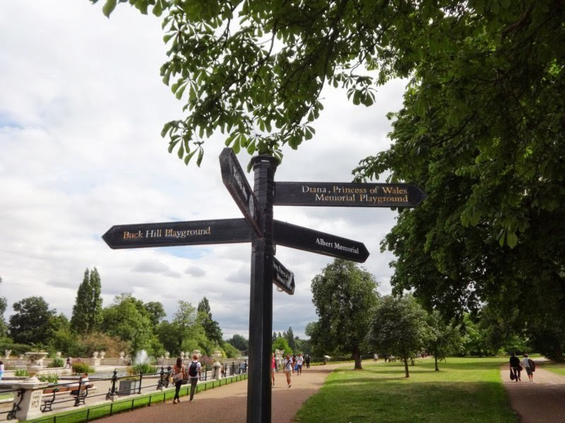 Princess Diana Memorial Playground sign
