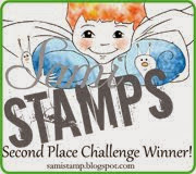 i made 2nd place at sami stamps