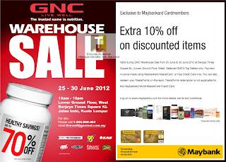 GNC Warehouse Sale