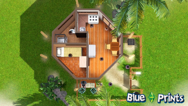 1 Bedroom Octagon Shaped Sims 3 House Plans Pinterest