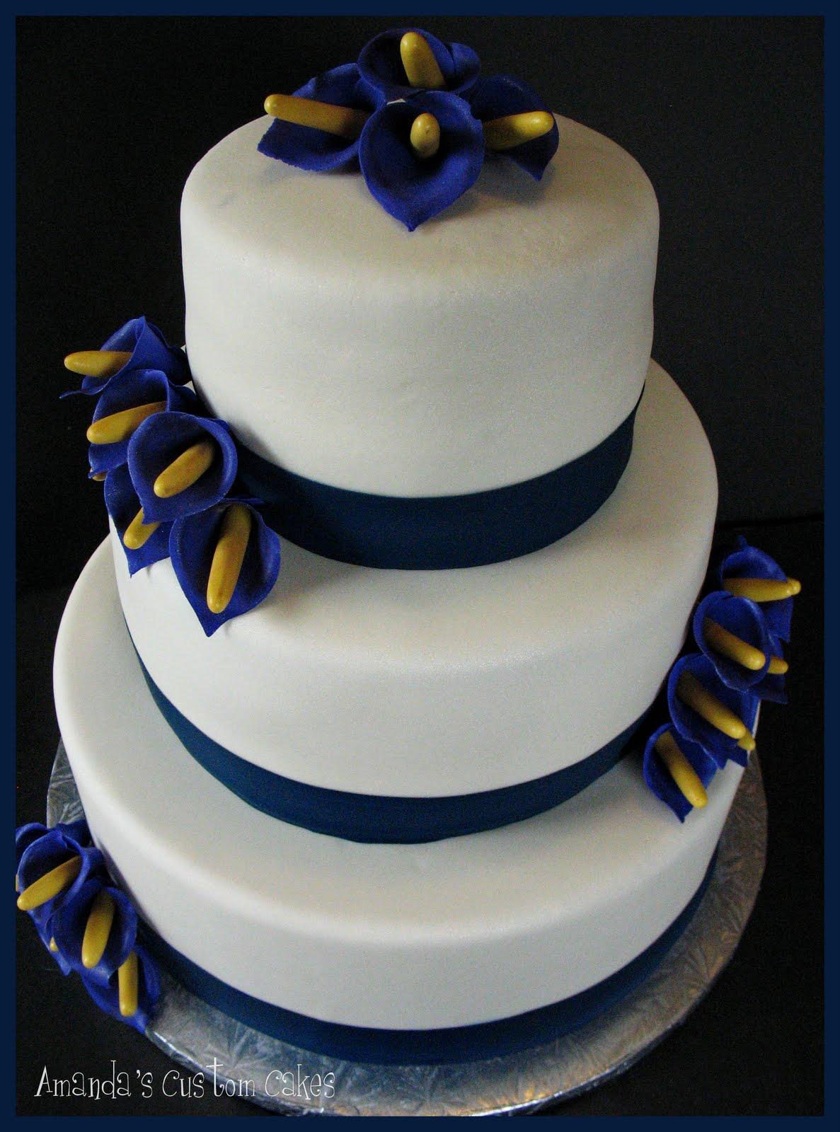Amanda s Custom Cakes Calla Lily Wedding Cake