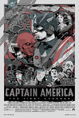 San Diego Comic-Con 2011 Exclusive Captain America: The First Avenger Mondo Screen Print Series by Tyler Stout - Metallic Variant Edition