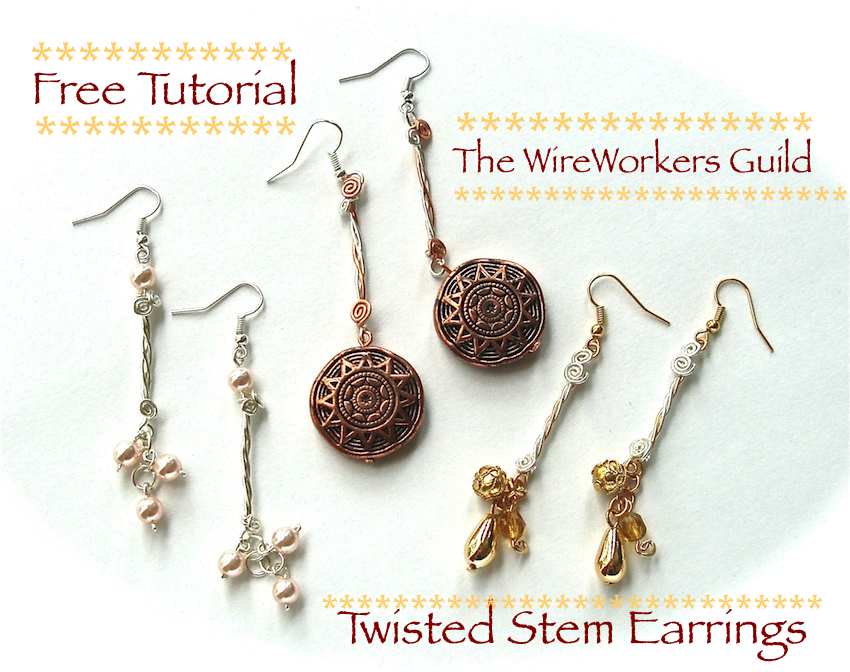 WireWorkers Guild: TWISTED STEM EARRINGS