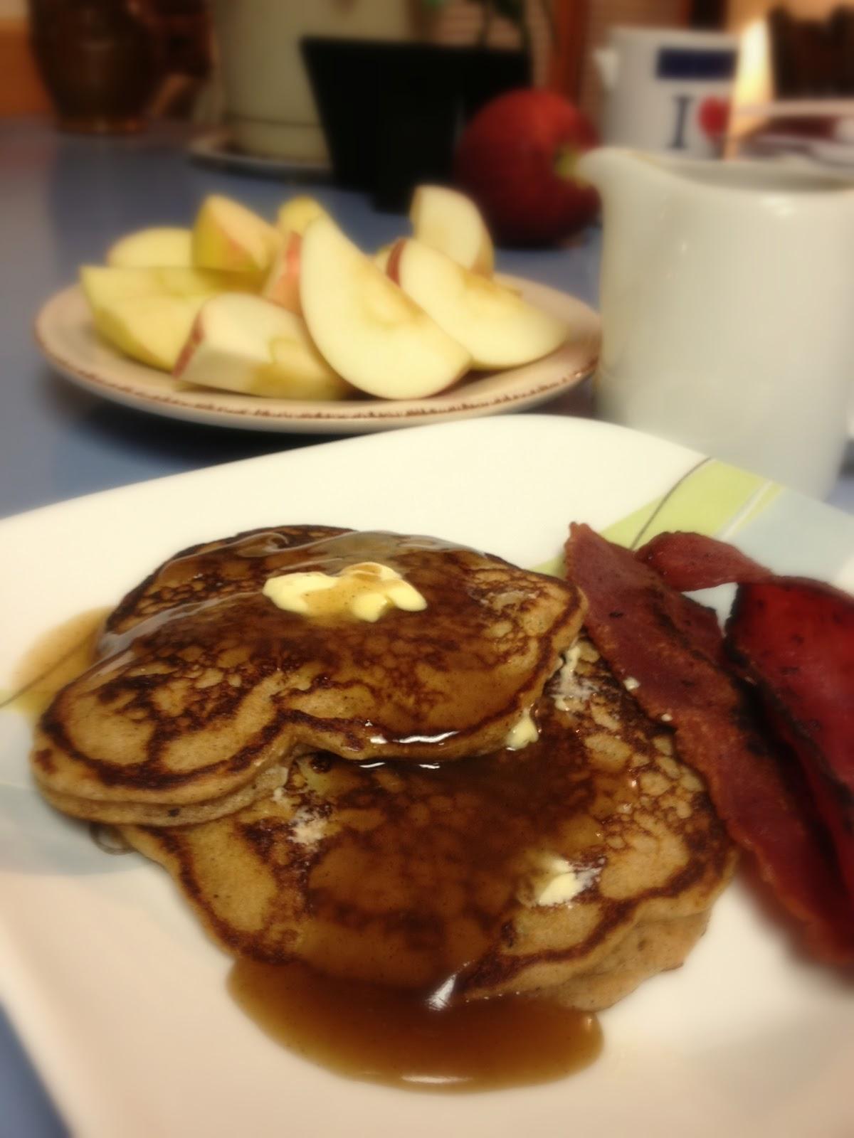 KitchenJoy: Whole Wheat Apple Cinnamon Pancakes {with ...
