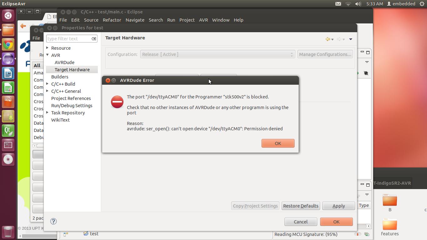 Solve : Programer STK500v2 is blocked linux ubuntu
