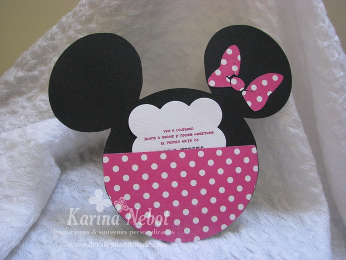 Como hacer invitaciónes de Minnie Mouse - Imagui