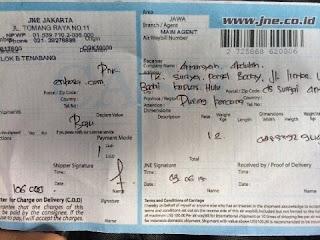 Nomer resi bukti pengiriman jersey a/n Armansyah Abdullah enkosa sport toko online baju bola terpercaya