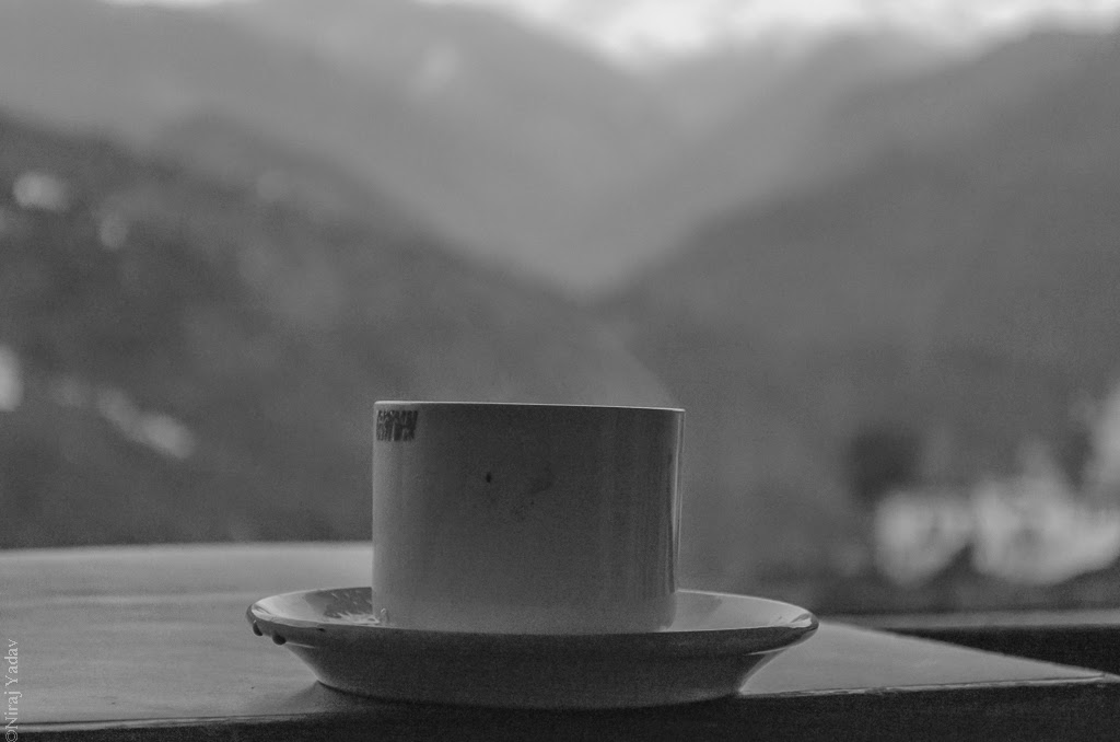 gmvn resort ukhimath, sipping tea in mountains