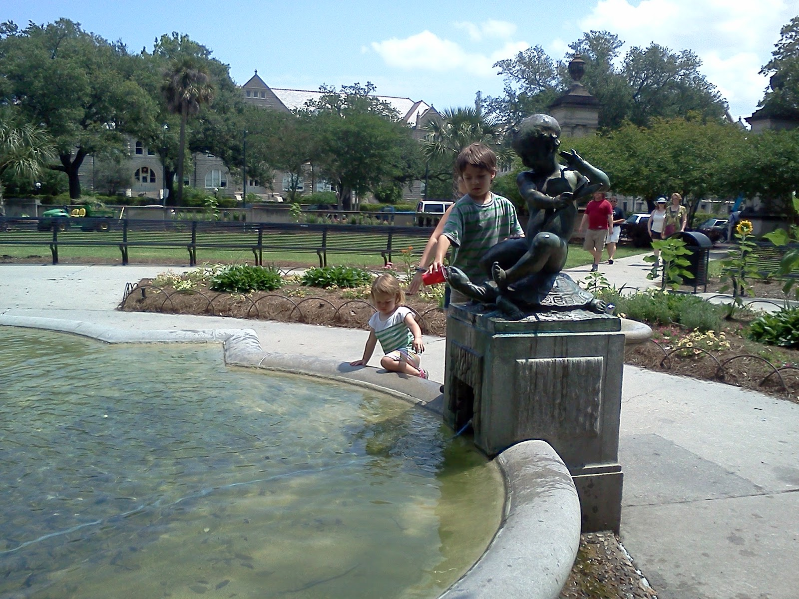 Fountain at entrance of Audubon Park