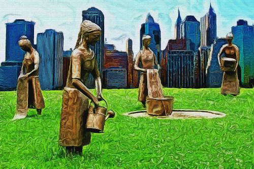 Washerwomen in New York Stevie Mach