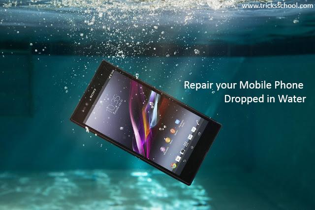 repair mobile phone drop in water