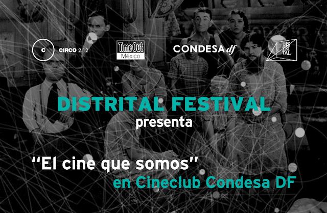 Programación en el Cineclub Condesa DF del Distrital Festival 2016