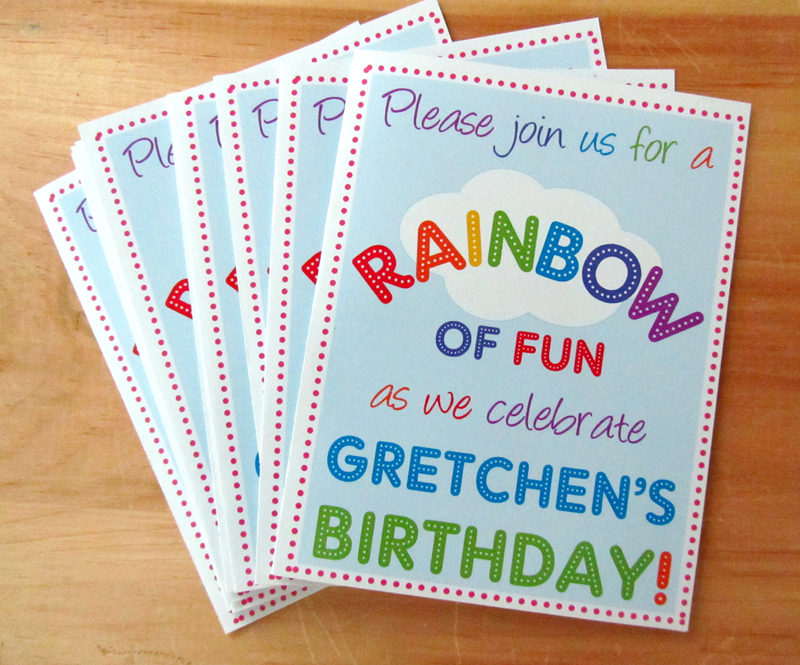from house to home: Rainbow Birthday Party