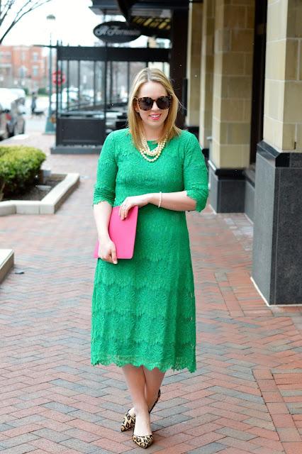 green-dress-leopard-shoes