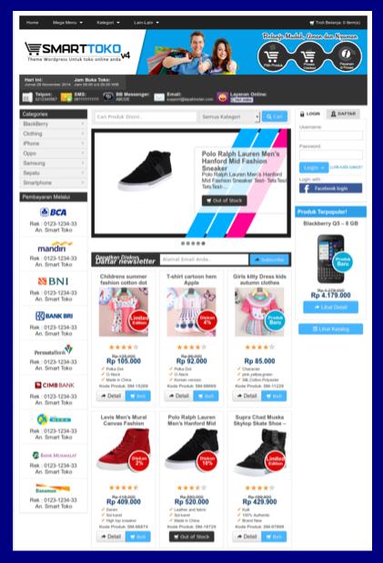 Template toko online seo friendly