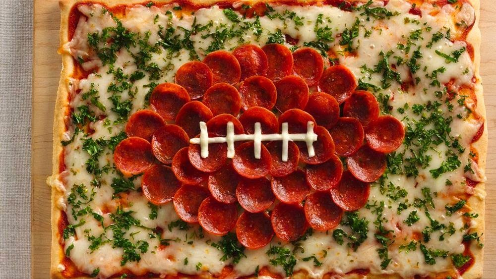 Make this simply delicious football pizza.