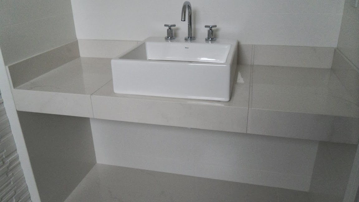Minha Casa Clean CUBAS DE APOIO, ENCAIXE E SEMIENCAIXE -> Cuba De Apoio Para Banheiro Quadrada