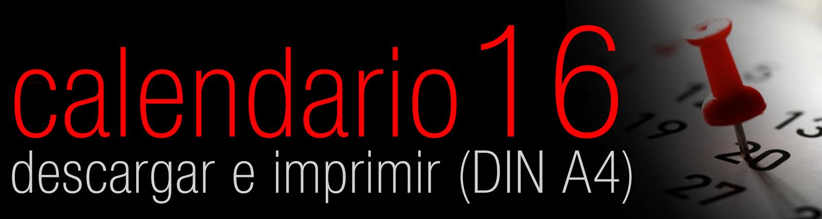 <strong>CALENDARIO 2016 (DIN A4)</strong>