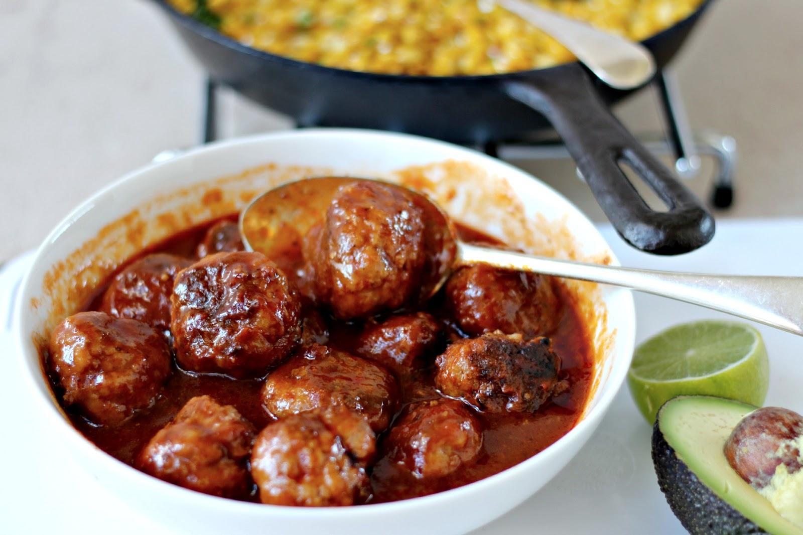 Milk and Honey: Meatballs in Barbecue Sauce