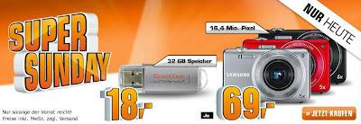 Saturn-Super-Sonntag: Digitalkamera Samsung ST93 für 69 Euro