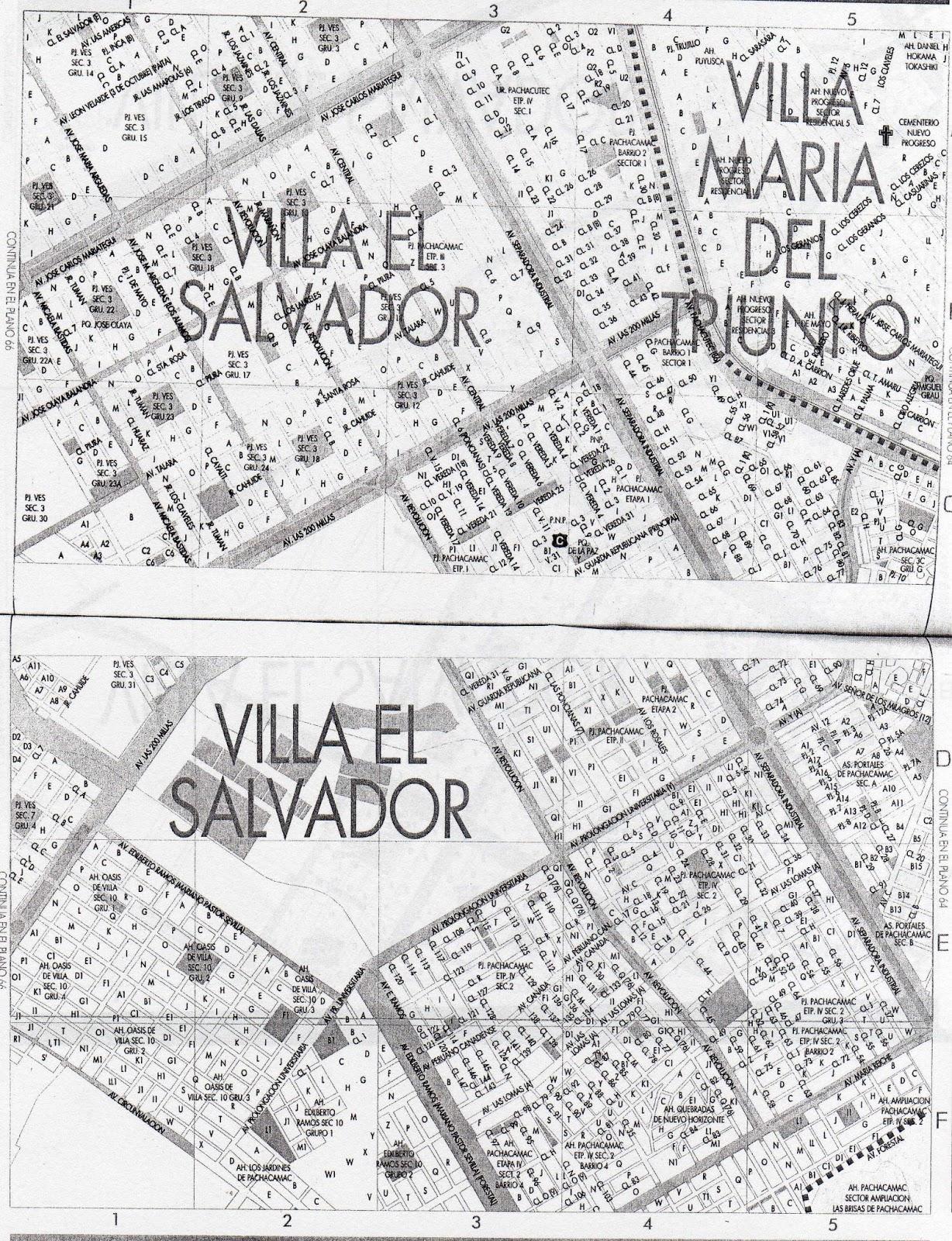 Para Mis Tareas Mapa Diagrama Villa El Salvador Villa