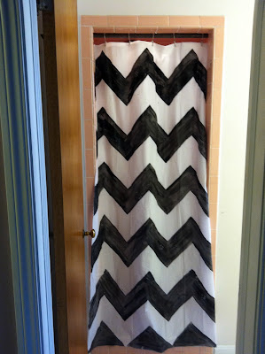 chevron shower curtain so you think you 39 re crafty